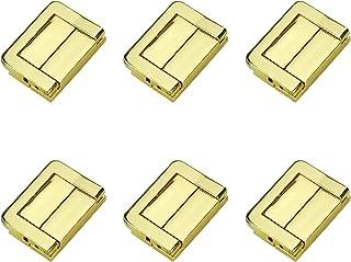 Quluxe Toggle Catch Lock,复古装饰吊带,手提箱胸箱锁扣 - 金色(6 件装)