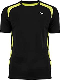 Victor 中性款 T 恤功能羽毛球衬衫,中性款成人,羽毛球衬衫,694/0/0,黑色,XXX-L 码