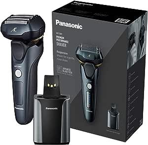 Panasonic 松下 ES-LV97 干湿两用电动剃须刀 5 刀片,带清洁和充电支架,英国2 针插头