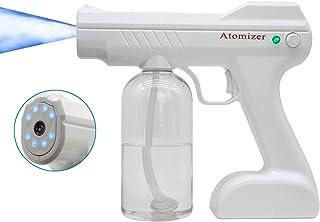 MERSTEYO 便携式蓝灯纳米喷雾喷雾器慢跑器800毫升无线充电,适用于家庭、商店、花园,白色