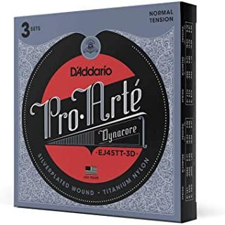 D'Addario EJ45TT ProArte DynaCore 经典吉他弦,钛高音,正常张力,3 件套