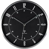 IRISPLAZA 爱丽思 设计 挂钟 电子钟 铝制 28 厘米 OTI-07 黑色 28㎝ OTI-08