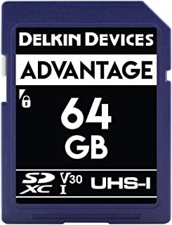 Delkin 德尔金 Devices 64GB Advantage SDXC UHS-I (V30) 内存卡 (DDSDW63364GB)