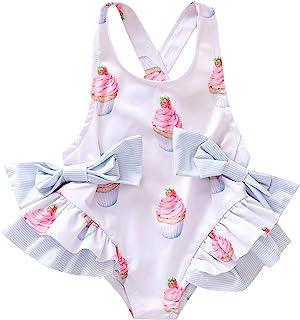 女婴泳装比基尼冰淇淋泳衣新生儿女孩泳装沙滩装泳衣