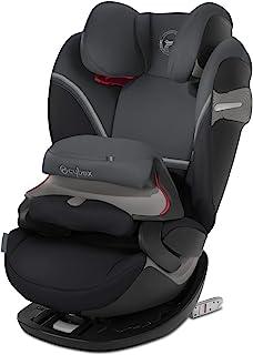 CYBEX Gold Pallas S-Fix 2合1儿童汽车安全座椅,无论汽车是否具有ISOFIX锁均可安装,组别1/2/3(9-36kg),约9月-12岁,花岗岩黑
