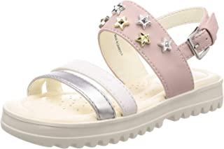 Geox 女童 J Coralie C 露趾凉鞋