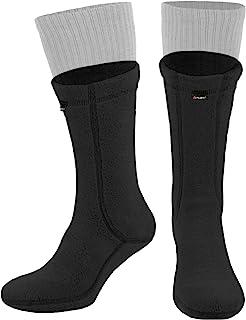281Z 户外保暖 8 英寸靴子衬袜 - 军事战术徒步运动 - Polartec 抓绒冬季袜子(黑色)