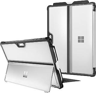 Fintie 硬壳,适用于 Microsoft 微软 Surface Pro 7 Plus/Pro 7/ Pro 6/ Pro 5/ Pro LTE,防震对开保护坚固外壳兼容键盘+原装支架(霜透明)
