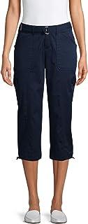 女式束腰工装七分裤