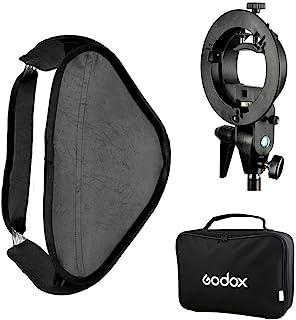 Godox 可折叠八角登软盒扩散器摇椅 适用于 Flash Unit 60 x 60 厘米 黑色