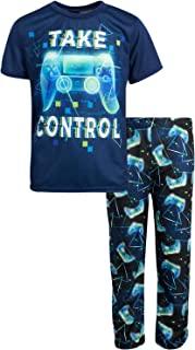 Quad Seven 男孩睡衣 - 2 件套 T 恤和慢跑者睡衣套装(大男孩)