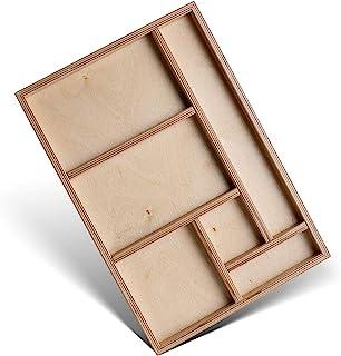 tiSsi 抽屉插件由实心多路木制成 45 × 5 × 31.5 厘米适合书桌 Jonas 和 Paul 米色