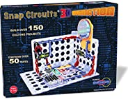 ELENCO Snap Circuits 3D照明电子设备探索套装件| 超过150个STEM活动| 全彩项目手册| 50多个零件| STEM儿童大脑开发玩具,适合8岁以上的人群
