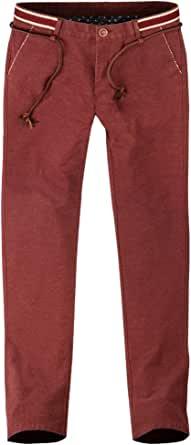 多佳新款时尚休闲裤 秋装弹力棉磨毛男士修身长裤 潮男小脚铅笔裤子