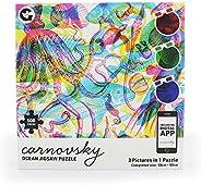 卡诺夫斯基姜狐狸 RGB 海洋 500 片 3 幅图片 1 拼图 - 包括艺术品打印、眼镜和镜头应用程序