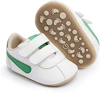 LAFEGEN 男婴女童步行鞋硬底防滑 PU 皮革户外运动鞋婴儿纸箱拖鞋学步学步鞋(3-18 个月)
