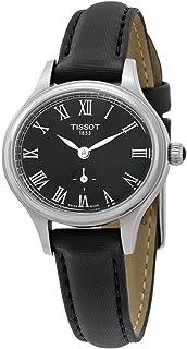 Tissot 天梭 女式瑞士贝拉 ORA ( S 码 ) 黑色皮革表带手表 T1031101705300