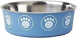 PetRageous 17077 卡普里不锈钢防滑洗碗机适用狗碗 8.5 杯 9 英寸直径 3 英寸高,适合超大犬,蓝色