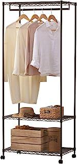 IRIS OHYAMA 爱丽思欧雅玛 金属置物架 衣橱 系列(宽91cm、深46cm) 棕色 80×46×11 CMW-75183