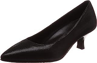 [萨克森沃克] 尖头鞋 浅口鞋 山羊革 鞋跟5cm 足围EE 女士