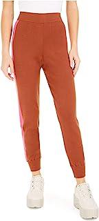 Bar III 女式条纹针织慢跑裤