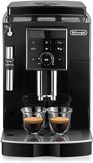 De'Longhi 德龙 ECAM 25.120.B 全自动咖啡机,带有直选按钮和调整旋钮,专业发泡嘴,双杯功能,13档研磨度,可移动冲泡组,黑色