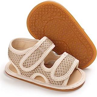 婴幼儿男孩女孩夏季凉鞋,防滑软底幼儿学步鞋(0-18 个月)