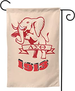 HSBHSJ Delta Sigma Theta 旗帜双面垂直派对横幅旗帜露台草坪家居户外装饰 12x18 英寸