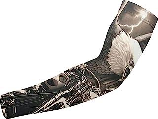 Woalbitan 鹰和摩托车压缩臂套 防紫外线冷却 男女青年保暖套