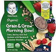 Gerber 嘉宝 Up Age 谷物&成长 晨间燕麦,大麦和红色藜麦,含香蕉和夏季浆
