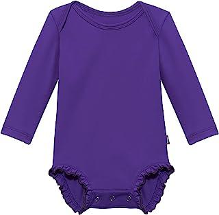 City Threads 女童长袖连体褶皱*服太阳游泳 T 恤 - 美国制造