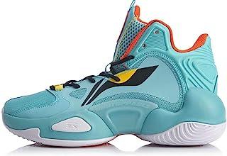 LI-NING 男式 Power V 专业篮球鞋缓冲内衬云高帮运动鞋ABAN045