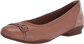 Clarks 女式 Sara Tulip 芭蕾平底鞋
