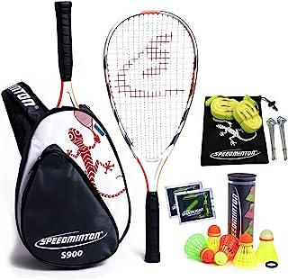 Speedminton® S900 套装 - Original Speed 羽毛球/Crossminton 专业套装,含碳球拍,包括 5 个 Speeder®,比赛场,包