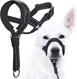GoodBoy 狗头挂脖带*带 - 防止重拉绳 - 软垫头领适合小型、中型和大型犬尺寸 - 包含头颈训练指南 黑色 1