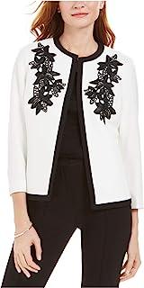 Kasper 女式象牙色花卉西装外套 尺码 10