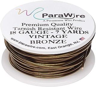 ParaWire 复古青铜饰面铜工艺线 18 号 7 码(约 18.7 米)带透明保护涂层