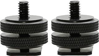 Foto&Tech 2 件 0.64 cm 20 三脚架全金属三脚架螺丝适用于热靴/冷热鞋适配器