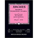 """Arches 水彩垫,热压 22.86cm X 30.48cm 白色 9""""X12"""" 400014953"""