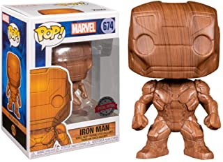Funko POP!Marvel 钢铁侠木质装饰乙烯树脂人偶 - 娱乐地球*
