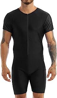 Shinsto 男式弹性短袖紧身连衣裤健身房锻炼运动摔跤单身连体衣