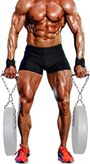 J Bryant 健身农民步行手柄举重手柄带链条 Deadlift 重型手柄 成对出售 用于肩部设备锻炼手柄