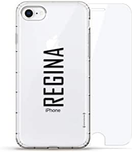 Luxendary Air 系列 360 束,设计师款手机壳 Plus 钢化玻璃 iPhone 8/7LUX-I8AIR360-NMREGINA2 NAME: REGINA, MODERN FONT STYLE 透明