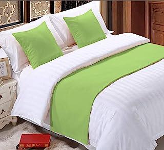 Epic 棉质纯色 3 件套床套,带 2 个枕头套纯色围巾保护套床装饰围巾适用于卧室酒店婚礼房(大号,鼠尾草)