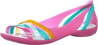 crocs 卡骆驰 Women's Isabella Huarache 2 Flat 204912-4c 女士绑带露趾凉鞋