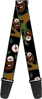 带扣式吉他背带 - Sloth Face/悬挂黑色 - 5.08 cm 宽 - 73.66 cm 长