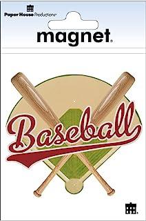 Paper House Productions M-0499E 模切冰箱磁贴,棒球标题(6 件装)