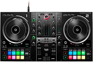 Hercules DJControl Inpulse 500:2 副 USB DJ 控制器适用于 Serato DJ 和 DJUCED (包括) - 内置音频接口,16 个背光 RGB 垫,大型慢跑轮,内置硬件输入混音器