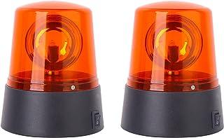 ERGAOBOY 2 件红色 360 度旋转装饰,迪斯科酒吧派对舞蹈 LED 频闪灯