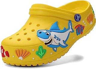 atyun 儿童木底拖鞋凉鞋卡通滑块防滑女孩男孩可爱花园鞋儿童轻质一脚蹬沙滩泳池淋浴拖鞋